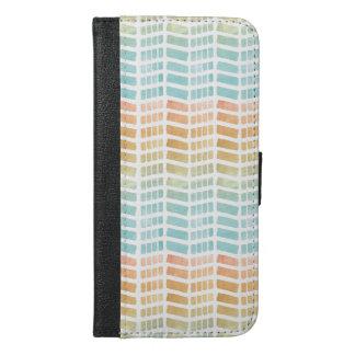 Capa Carteira Para iPhone 6/6s Plus Aguarelas bonitas do abstrato do primavera