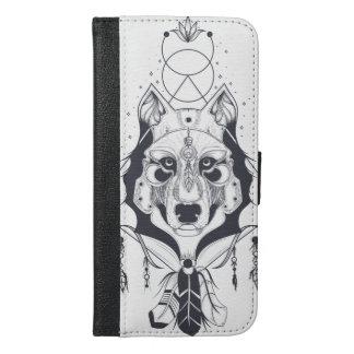 Capa Carteira Para iPhone 6/6s Plus arte legal do design do cão