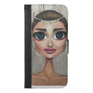 Capa Carteira Para iPhone 6/6s Plus Audrey