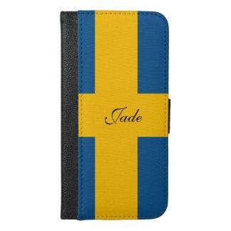 Capa Carteira Para iPhone 6/6s Plus Bandeira da suecia