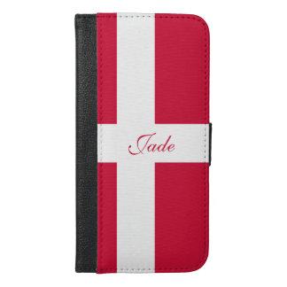 Capa Carteira Para iPhone 6/6s Plus Bandeira de Dinamarca ou do pano dinamarquês