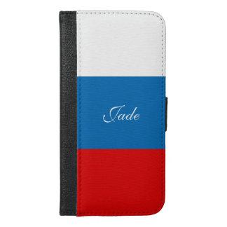 Capa Carteira Para iPhone 6/6s Plus Bandeira de Rússia