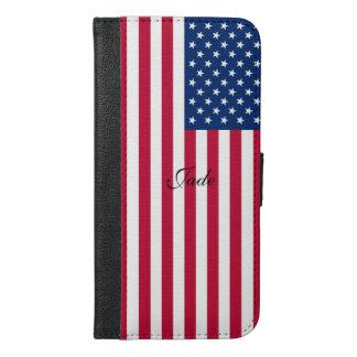 Capa Carteira Para iPhone 6/6s Plus Bandeira EUA americanos de América