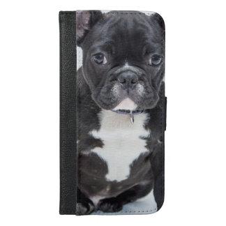Capa Carteira Para iPhone 6/6s Plus Buldogue preto