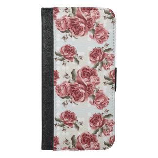 Capa Carteira Para iPhone 6/6s Plus Buquê tirado romântico das rosas vermelhas do