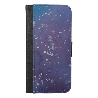 Capa Carteira Para iPhone 6/6s Plus Caixa escura da carteira de Splat da galáxia