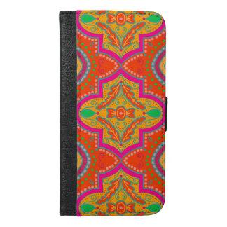 Capa Carteira Para iPhone 6/6s Plus Caixa marroquina da carteira do iPhone da