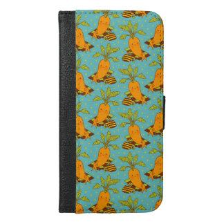 Capa Carteira Para iPhone 6/6s Plus Cenoura em Vacation-03
