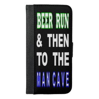 Capa Carteira Para iPhone 6/6s Plus Cerveja funcionada & então à caverna do homem