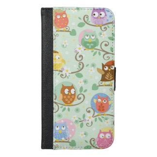 Capa Carteira Para iPhone 6/6s Plus Corujas Iphone 6/6S mais a caixa da carteira