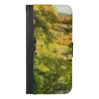 Capa Carteira Para iPhone 6/6s Plus Costa de um lago pequeno