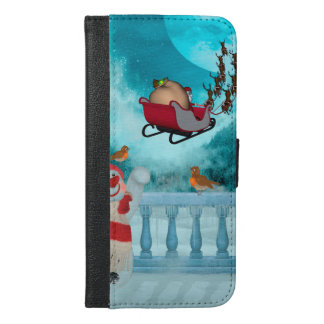 Capa Carteira Para iPhone 6/6s Plus Design do Natal, Papai Noel