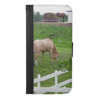 Capa Carteira Para iPhone 6/6s Plus Dois cavalos