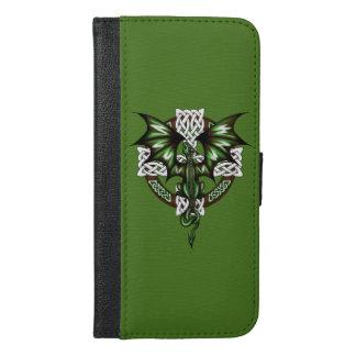 Capa Carteira Para iPhone 6/6s Plus Dragão celta