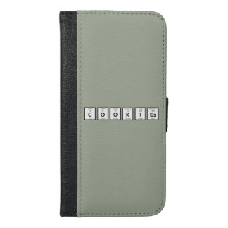 Capa Carteira Para iPhone 6/6s Plus Elemento químico Z57c7 dos biscoitos
