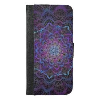 Capa Carteira Para iPhone 6/6s Plus Flor de Chakra, boho, idade nova, espiritual