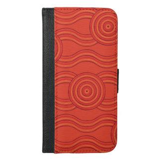 Capa Carteira Para iPhone 6/6s Plus Fogo aborígene da arte