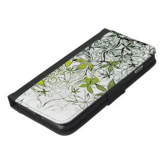 Capa Carteira Para iPhone 6/6s Plus Fundo floral moderno 234