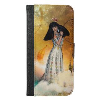 Capa Carteira Para iPhone 6/6s Plus Indiano amarican bonito