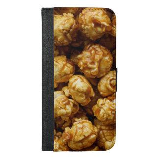 Capa Carteira Para iPhone 6/6s Plus iPhone 6/6s do design da pipoca do caramelo mais o