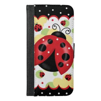 Capa Carteira Para iPhone 6/6s Plus iPhone 6/6S do joaninha mais a caixa da carteira