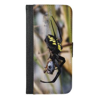 Capa Carteira Para iPhone 6/6s Plus iPhone preto & amarelo 6/6s da aranha mais o caso