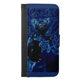 Capa Carteira Para iPhone 6/6s Plus Koala da arte do animal selvagem em uma árvore