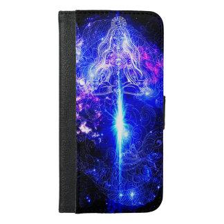 Capa Carteira Para iPhone 6/6s Plus Koi iridescente cósmico
