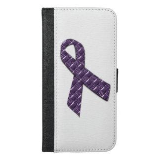 Capa Carteira Para iPhone 6/6s Plus Lilac francês