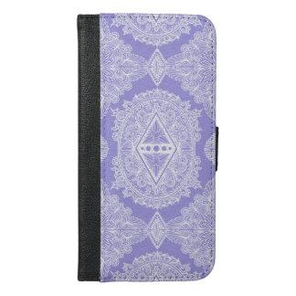 Capa Carteira Para iPhone 6/6s Plus Lilac, idade do despertar, bohemian, newage