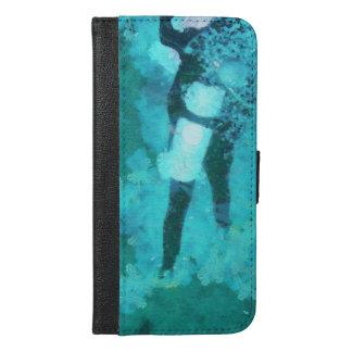 Capa Carteira Para iPhone 6/6s Plus Mergulhador e bolhas de mergulhador