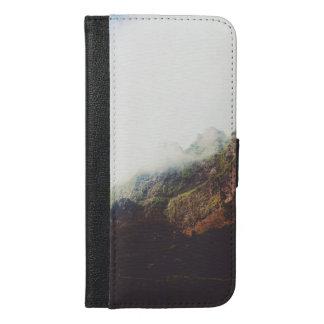 Capa Carteira Para iPhone 6/6s Plus Montanhas enevoadas, cena de relaxamento da