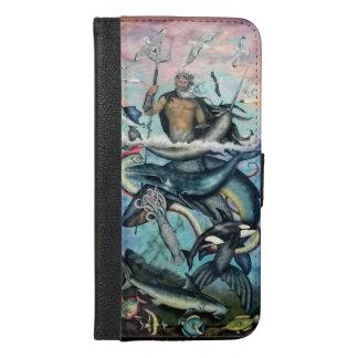 Capa Carteira Para iPhone 6/6s Plus Netuno