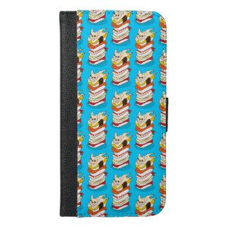 Capa Carteira Para iPhone 6/6s Plus Noite japonesa do sushi para o buldogue francês
