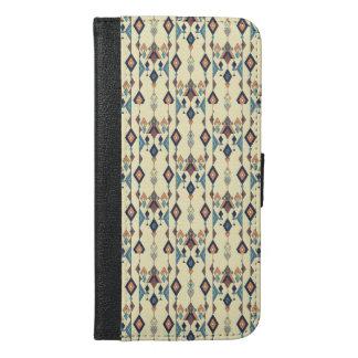 Capa Carteira Para iPhone 6/6s Plus Ornamento asteca tribal étnico do vintage