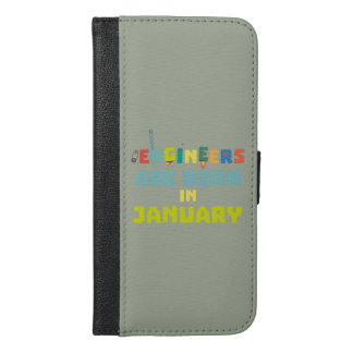 Capa Carteira Para iPhone 6/6s Plus Os engenheiros são em janeiro Zcu85 nascidos