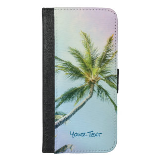 Capa Carteira Para iPhone 6/6s Plus Palmas de relaxamento personalizadas da cor do
