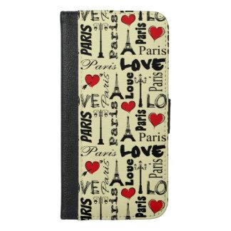 Capa Carteira Para iPhone 6/6s Plus Paris