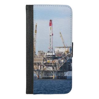 Capa Carteira Para iPhone 6/6s Plus Plataforma petrolífera