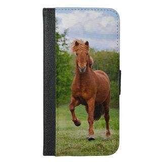 Capa Carteira Para iPhone 6/6s Plus Pônei islandês em amantes engraçados de um cavalo