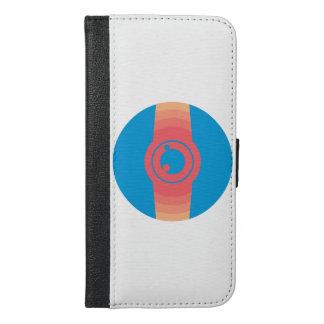 Capa Carteira Para iPhone 6/6s Plus Relógio abstrato