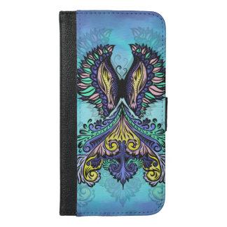 Capa Carteira Para iPhone 6/6s Plus Renascido - escuro, boémio, espiritualidade