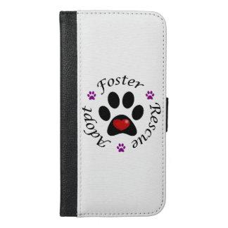 Capa Carteira Para iPhone 6/6s Plus Salvamento animal
