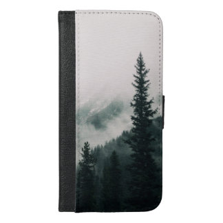 Capa Carteira Para iPhone 6/6s Plus Sobre as montanhas e a calha as madeiras