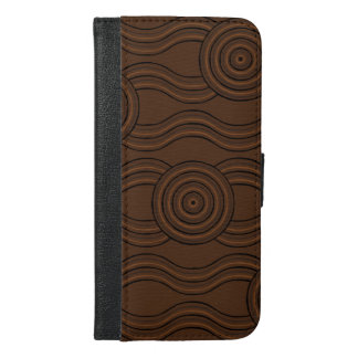 Capa Carteira Para iPhone 6/6s Plus Solo aborígene da arte