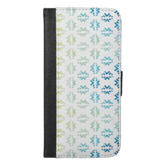 Capa Carteira Para iPhone 6/6s Plus Teste padrão do primavera do abstrato da aguarela
