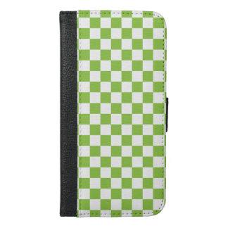 Capa Carteira Para iPhone 6/6s Plus Teste padrão do tabuleiro de damas do verde
