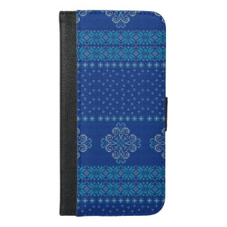 Capa Carteira Para iPhone 6/6s Plus Teste padrão feito malha Natal