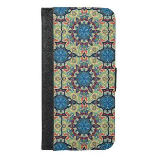 Capa Carteira Para iPhone 6/6s Plus Teste padrão floral étnico abstrato colorido de da
