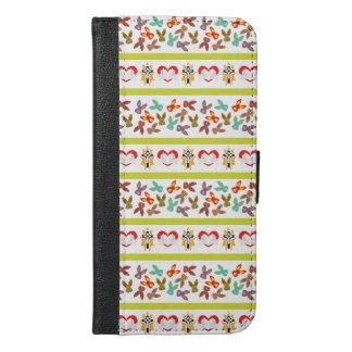 Capa Carteira Para iPhone 6/6s Plus Teste padrão psicótico da páscoa colorido